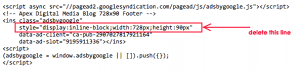 AdSense Responsive Remove Code