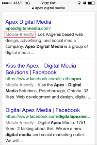 ApexDigitalMedia.com is Mobile Friendly.